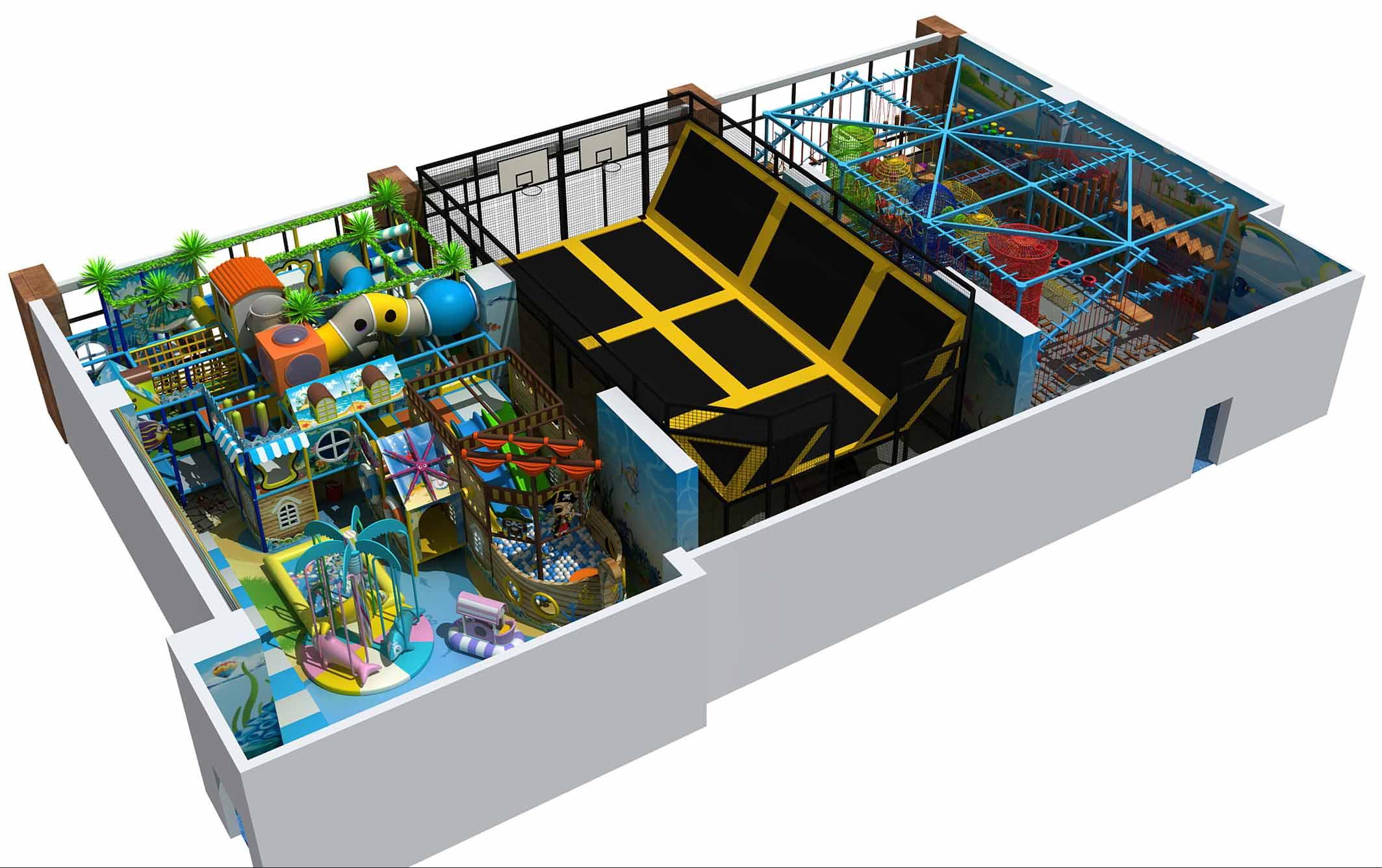 trampolin yang dikombinasikan