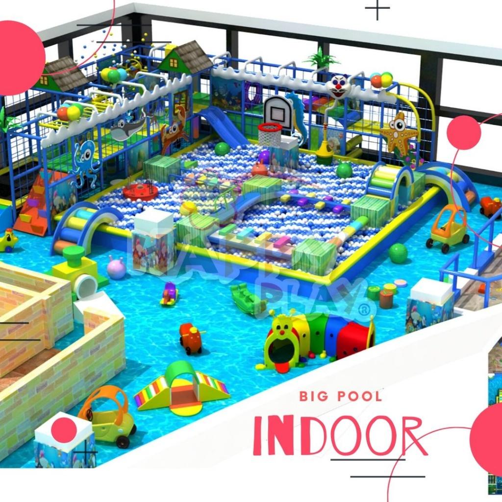 indoor playground big pool