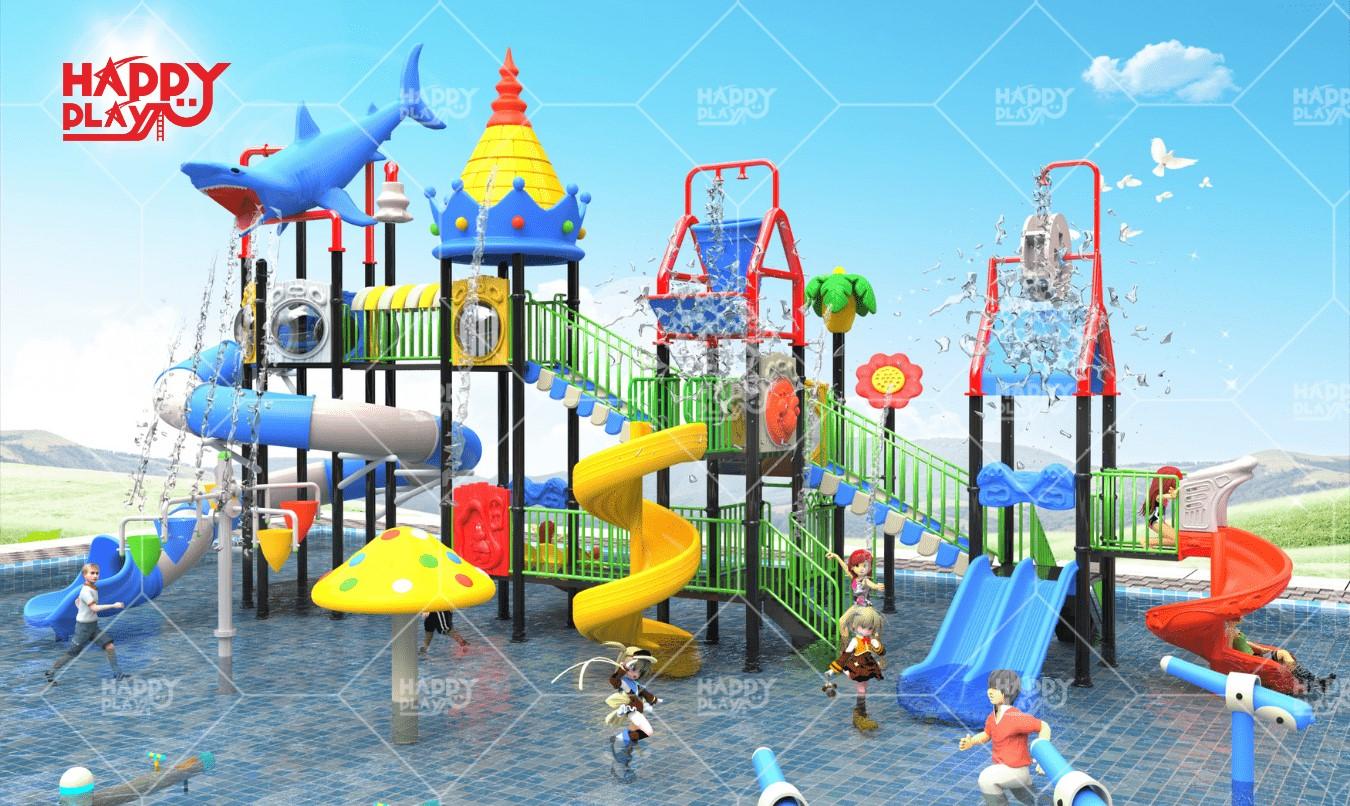 Mainan Outdoor Komplit, Jual Paket Waterpark Terjangkau